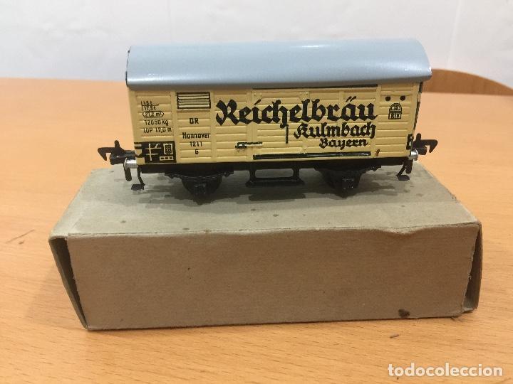 Trenes Escala: FLEISCHMANN ESCALA H0 VAGON REICHELBRÄU AÑOS 50 RFA A1211 - Foto 4 - 132888590