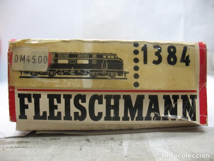 Trenes Escala: FLEISCHMANN Ref: 1384 - Locomotora diésel corriente continua de la DB - Escala H0 - Foto 3 - 68122277