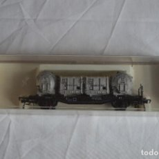 Trenes Escala: FLEISCHMANN. VAGÓN CONTENEDOR DE LA DB. H0. REF. 5230. ROMANJUGUETESYMAS.. Lote 69536645