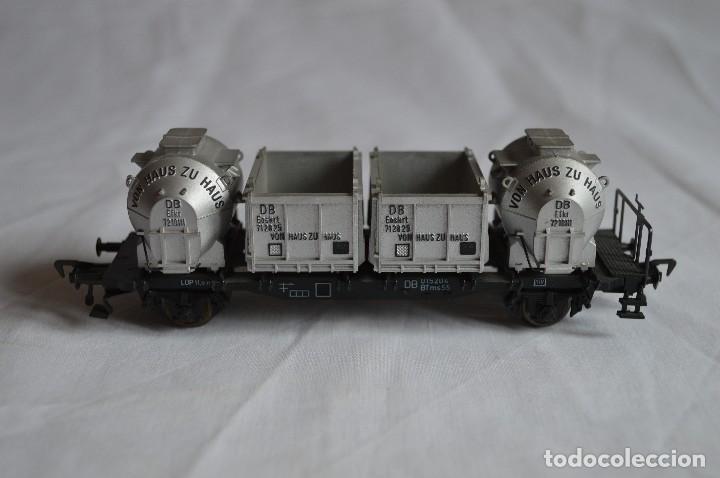 Trenes Escala: Fleischmann. Vagón contenedor de la DB. H0. Ref. 5230. romanjuguetesymas. - Foto 4 - 69536645
