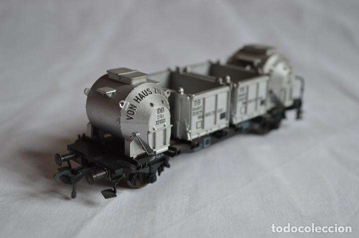 Trenes Escala: Fleischmann. Vagón contenedor de la DB. H0. Ref. 5230. romanjuguetesymas. - Foto 5 - 69536645