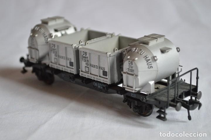 Trenes Escala: Fleischmann. Vagón contenedor de la DB. H0. Ref. 5230. romanjuguetesymas. - Foto 6 - 69536645