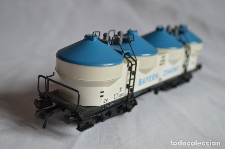 Trenes Escala: Fleischmann. Vagón contenedor-silo de la DB para Bayern Zement. H0. Ref. 5480. romanjuguetesymas. - Foto 5 - 69537273