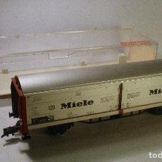Trenes Escala: FLEISCHMANN #5338. H0. VAGÓN PUERTAS CORREDIZAS MIELE. Lote 69731017