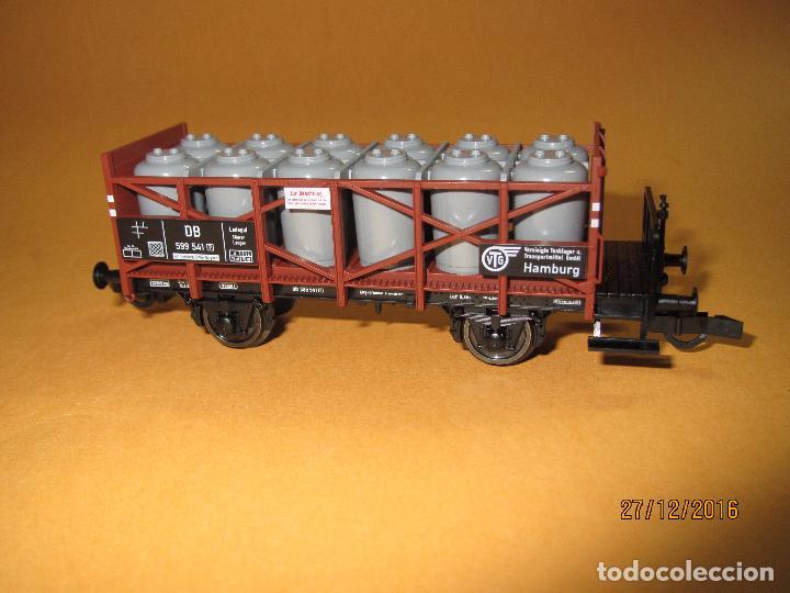 Trenes Escala: Descatalogado Vagón Transporte de Tanques de Almacenamiento en Escala *H0* de FLEISCHMANN - Foto 2 - 71217269