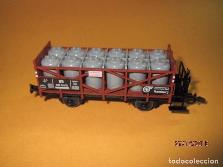 Trenes Escala: Descatalogado Vagón Transporte de Tanques de Almacenamiento en Escala *H0* de FLEISCHMANN - Foto 3 - 71217269