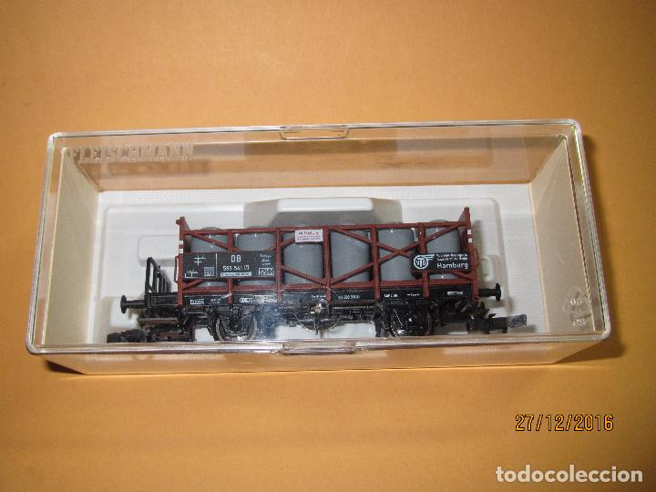 Trenes Escala: Descatalogado Vagón Transporte de Tanques de Almacenamiento en Escala *H0* de FLEISCHMANN - Foto 7 - 71217269