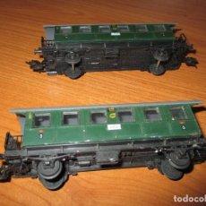 Trenes Escala: TREN H0: LOTE DE 2 VAGONES VAGONES FLEISCHMANN. Lote 73019051