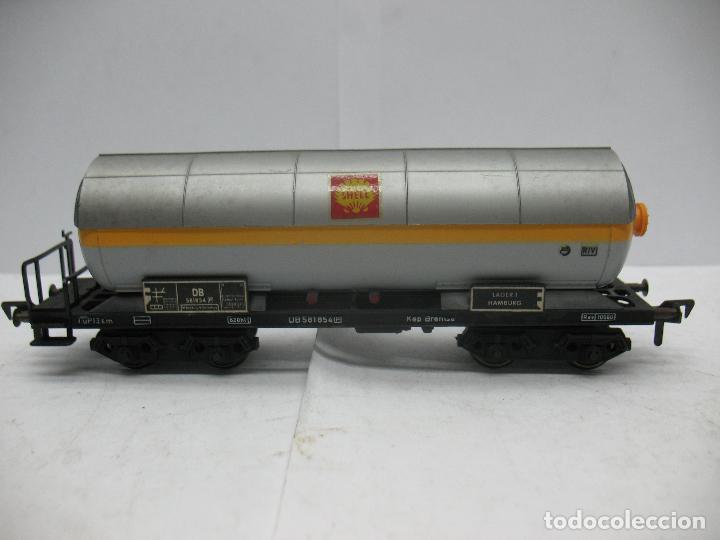 FLEISCHMANN - VAGÓN CISTERNA SHELL DE LA DB 581854 - ESCALA H0 (Juguetes - Trenes Escala H0 - Fleischmann H0)