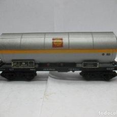 Trenes Escala: FLEISCHMANN - VAGÓN CISTERNA SHELL DE LA DB 581854 - ESCALA H0. Lote 75677783