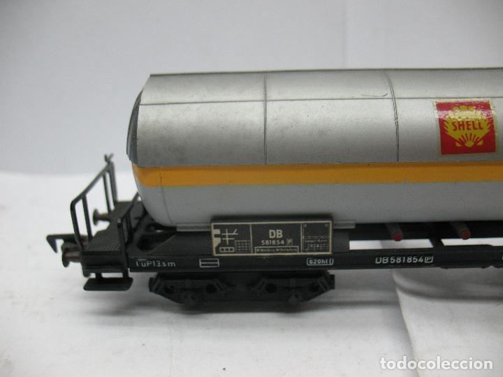 Trenes Escala: Fleischmann - Vagón cisterna SHELL de la DB 581854 - Escala H0 - Foto 2 - 75677783