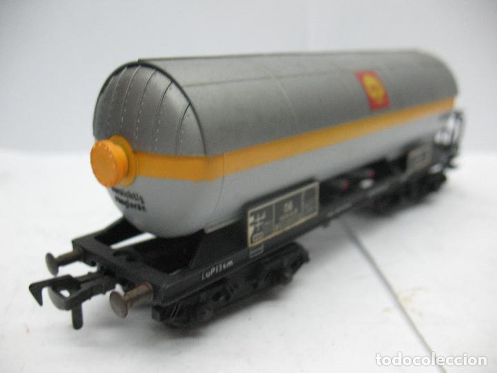 Trenes Escala: Fleischmann - Vagón cisterna SHELL de la DB 581854 - Escala H0 - Foto 6 - 75677783