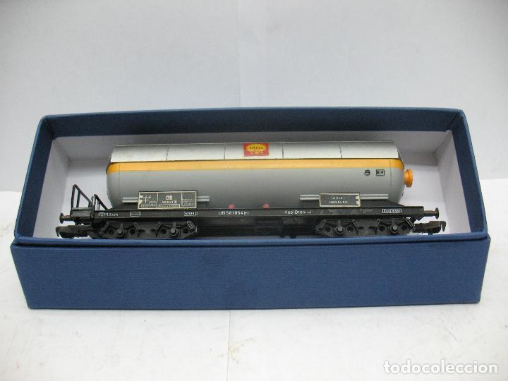 Trenes Escala: Fleischmann - Vagón cisterna SHELL de la DB 581854 - Escala H0 - Foto 8 - 75677783