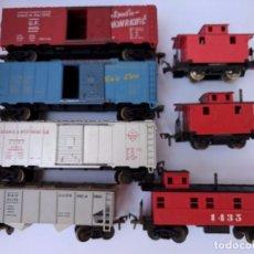 Trenes Escala: FLEISCHMANN 1427, 1428, 1429, 1434 (2), 1435, Y 1437 CONJUNTO VAGONES AMERICANOS ESCALA HO. Lote 96984979