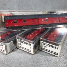 Trenes Escala: LOTE X4 VAGONES FLEISCHMANN. Lote 97945466