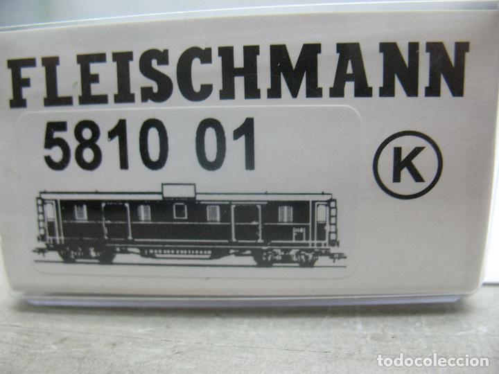 Trenes Escala: Fleischmann Ref: 5810 01 K - Furgón 93 007 - Escala H0 - Foto 9 - 163729572