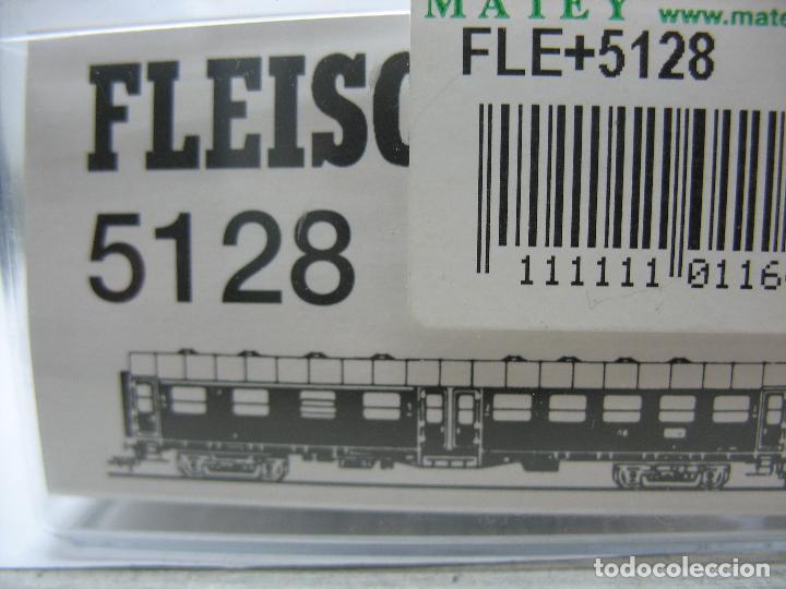 Trenes Escala: Fleischmann Ref: 5128 - Coche de pasajeros de la DB 50 80 38 - 11 189-6 - Escala H0 - Foto 8 - 106907371