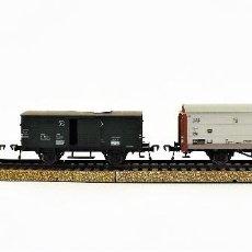 Trenes Escala: FLEISCHMANN LOTE DE VAGONES DE CARGA. Lote 109001523