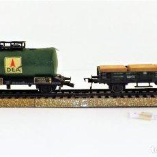 Trenes Escala: FLEISCHMANN LOTE DE VAGONES DE TRANSPORTE. Lote 109001723