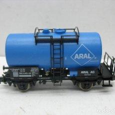 Trenes Escala: FLEISCHMANN REF: 5413 K - VAGÓN CISTERNA ARAL DE LA DB - ESCALA H0. Lote 110234347