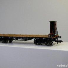Trenes Escala: FLEISCMANN H0 VAGÓN PLATAFORMA CON GARITA Y RUEDAS DE RADIOS, AFECTO A LA DR, REFERENCIA 5285 K.. Lote 115139327