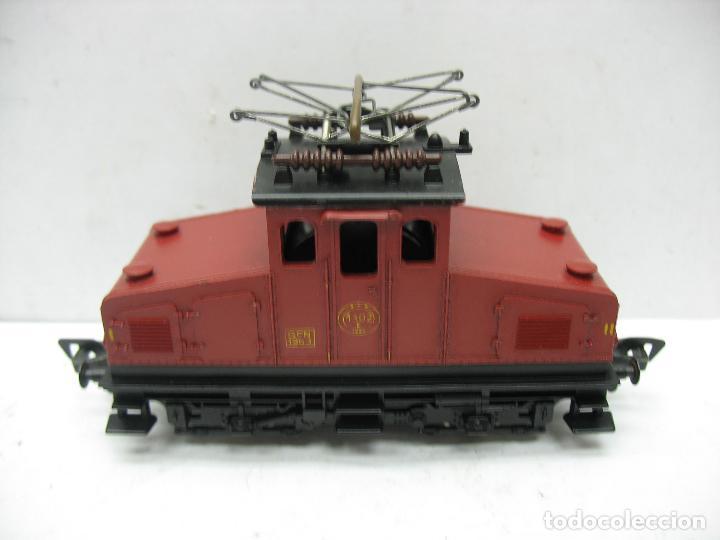 FLEISCHMANN - LOCOMOTORA ELÉCTRICA 1302 GFN 1963 CORRIENTE CONTINUA - ESCALA H0 (Juguetes - Trenes Escala H0 - Fleischmann H0)