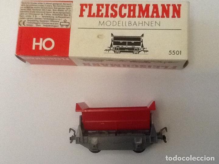 VAGON TOLVA FLEISCHMANN HO REF. 5501 (Juguetes - Trenes Escala H0 - Fleischmann H0)