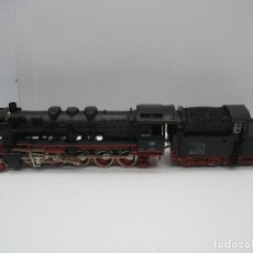 Trenes Escala: FLEISCHMANN - LOCOMOTORA DE VAPOR CON TENDER DE LA DB 50038 CORRIENTE ALTERNA - ESCALA H0. Lote 121863291