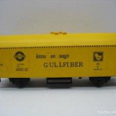 Trenes Escala: FLEISCHMANN - VAGÓN DE MERCANCÍAS CERRADO GULLFIBER - ESCALA H0. Lote 121961959