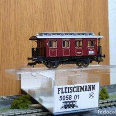 Trenes Escala: FLEISCHMANN H0 COCHE DE VIAJEROS 2ª CLASE BERGHEIMER LOKALBAHN AG, REFERENCIA 5058 01 . Lote 122120599