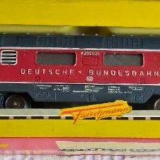 Trenes Escala: LOCOMOTORA DIÉSEL FLEISCHMANN CLASE V 200035 DE LA DB, ÉPOCA III. ROADNR. V 200 009. 1962.. Lote 122163759