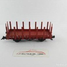 Trenes Escala: VAGON DE MERCANCIAS BORDE BAJO 409 234 DB FLEISCHMANN ESCALA H0. Lote 125071183