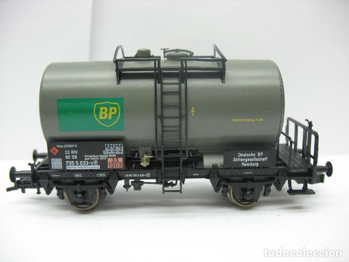 Trenes Escala: Fleischmann Ref: 5412 K - Vagón cisterna BP de la DB 7355033-3 - Escala H0 - Foto 2 - 131178496