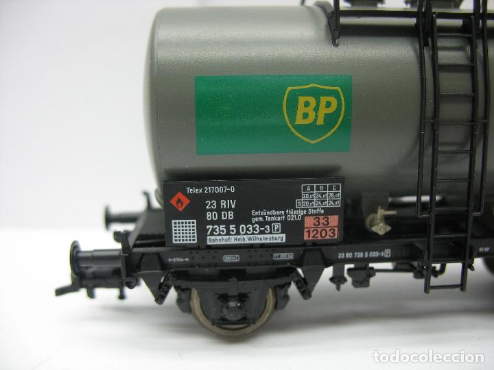 Trenes Escala: Fleischmann Ref: 5412 K - Vagón cisterna BP de la DB 7355033-3 - Escala H0 - Foto 3 - 131178496