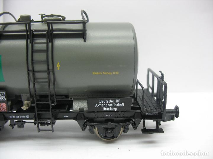 Trenes Escala: Fleischmann Ref: 5412 K - Vagón cisterna BP de la DB 7355033-3 - Escala H0 - Foto 4 - 131178496
