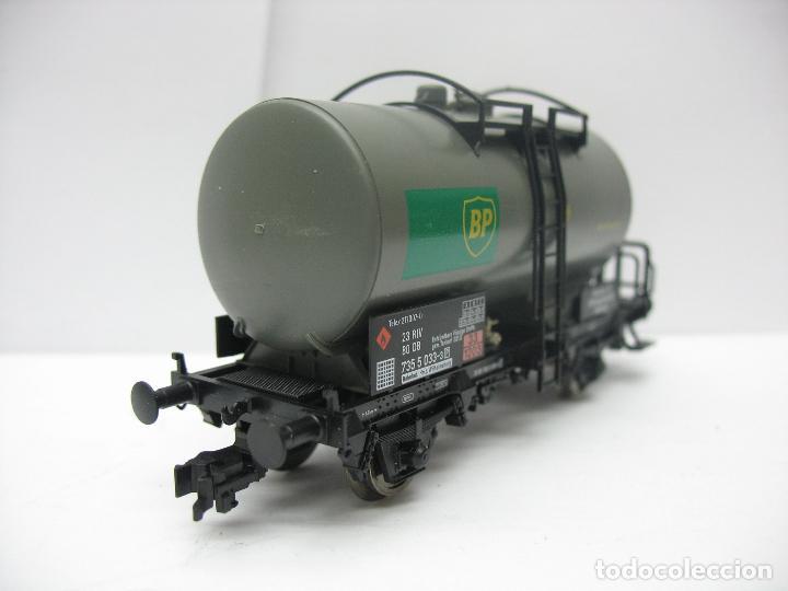 Trenes Escala: Fleischmann Ref: 5412 K - Vagón cisterna BP de la DB 7355033-3 - Escala H0 - Foto 5 - 131178496