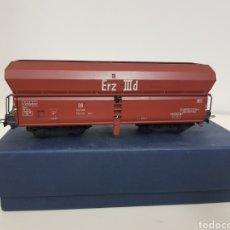 Trenes Escala: VAGÓN TOLVA DOBLE CON MECANISMO DE VACIADO DE LA DB ALEMANA ESCALA H0 FLEICHMANN. Lote 133220050