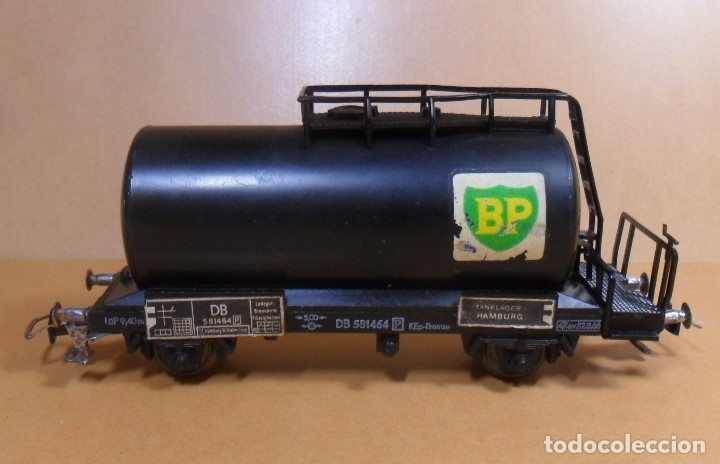 Trenes Escala: FLEISCHMANN H0 - Vagón Cisterna BP - Foto 3 - 132978946