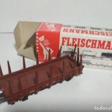Trenes Escala: VAGON BORDES BAJOS MERCANCIAS TELEROS DB FLEISCHMANN. Lote 135412122