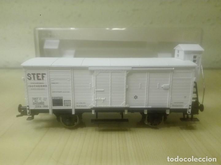 Trenes Escala: VAGON CERRADO ISOTERMICO (con garita) , STEF ,SNCF , REF. 5365FA - Foto 2 - 139113966