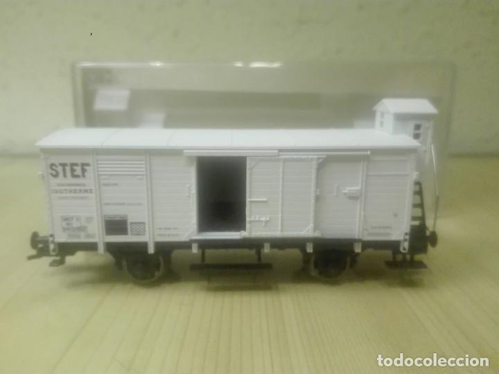 Trenes Escala: VAGON CERRADO ISOTERMICO (con garita) , STEF ,SNCF , REF. 5365FA - Foto 3 - 139113966