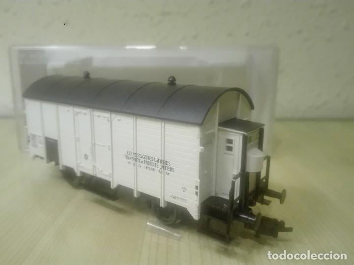 VAGON CERRADO CON GARITA (TRANSPORTES PRODUCTOS LÁCTEOS).REF.5346F (Juguetes - Trenes Escala H0 - Fleischmann H0)