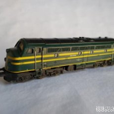 Trenes Escala: FLEISCHMANN 1385 DE LA SNCB 204006 LOCOMOTORA DIESEL HO CORRIENTE CONTINÚA. Lote 140171926