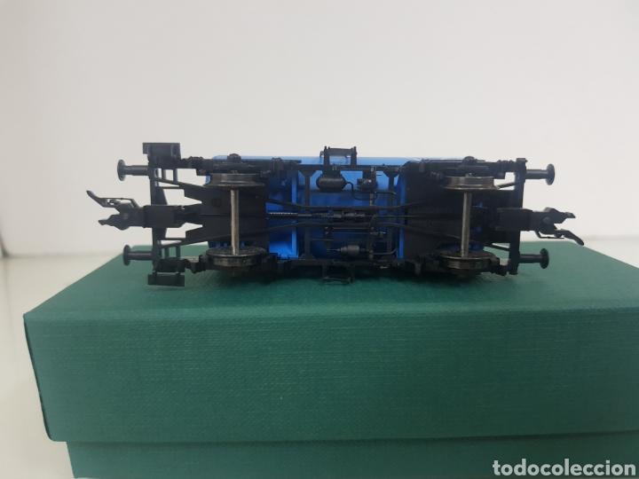 Trenes Escala: Vagon Fleischmann Aral cisterna azul escala H0 corriente continua 11 cm - Foto 4 - 149035133