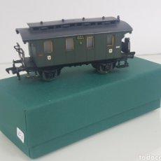 Trenes Escala: VAGON FLEISCHMANN ESCALA H0 CORRIENTE CONTINUA NUREMBERG SEGUNDA CLASE DE 10 CM. Lote 149044502