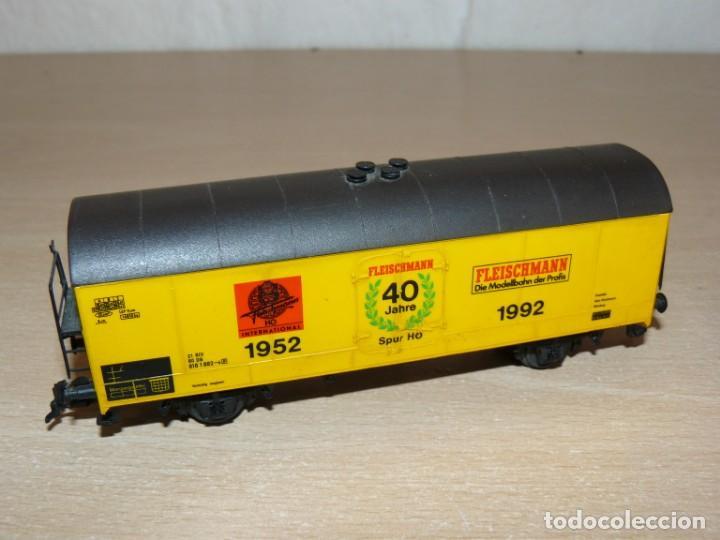Trenes Escala: alfreedom FLEISCHMANN Lote 3 Vagones Mercancías uno de ellos Aniversario 40 años 1952-1992 Escala H0 - Foto 4 - 149397166