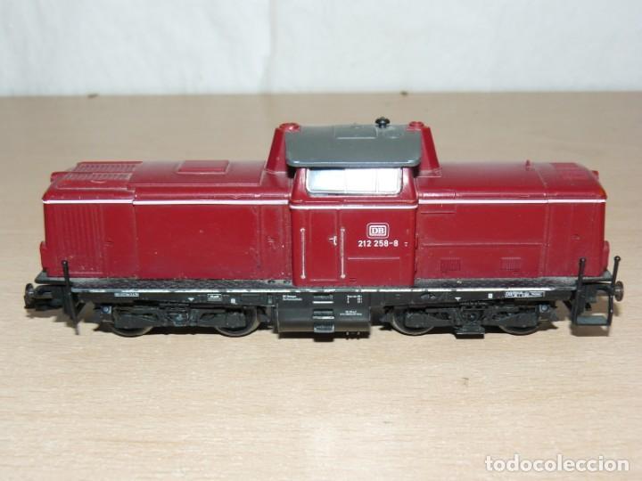 Trenes Escala: alfreedom FEISCHMANN Locomotora Diesel DB 212 258-8 Escala H0 Made in Germany años 80 - Foto 2 - 149403726