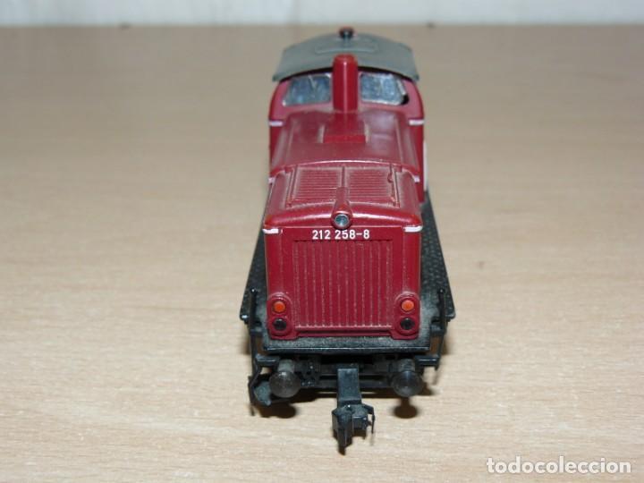Trenes Escala: alfreedom FEISCHMANN Locomotora Diesel DB 212 258-8 Escala H0 Made in Germany años 80 - Foto 3 - 149403726