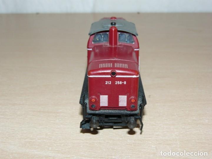Trenes Escala: alfreedom FEISCHMANN Locomotora Diesel DB 212 258-8 Escala H0 Made in Germany años 80 - Foto 4 - 149403726