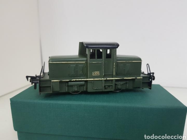 Trenes Escala: Locomotora Fleischmann corta tractora escala H0 corriente continua de 12 cm en verde - Foto 3 - 174547448